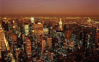 Nowy Jork nocą.