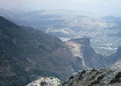Krajobraz Krety jest bardzo górzysty