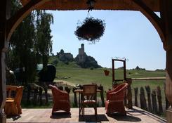 Widok z restauracji na zamek.