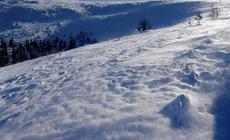 zadymka snieżna na Hali Łabowej / Szklarska Poręba