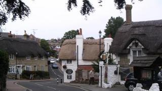 Charakterystyczne domki w Sandown.
