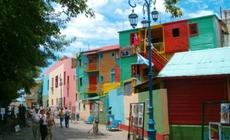 Kolorowa dzielnica tanga Buenos Aires.