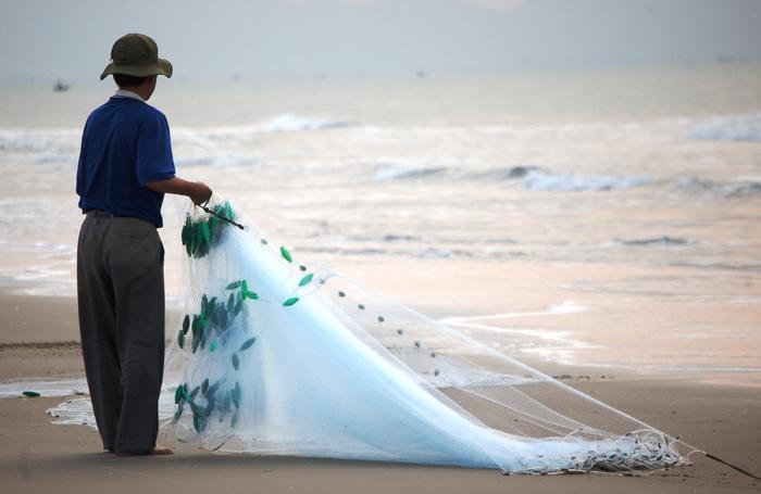 Rybak w miejscowości Vung Tau.