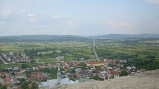 Panorama Kielc z zamku w Chęcinach