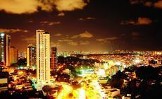 Widok ze szczytu świata na Salvador