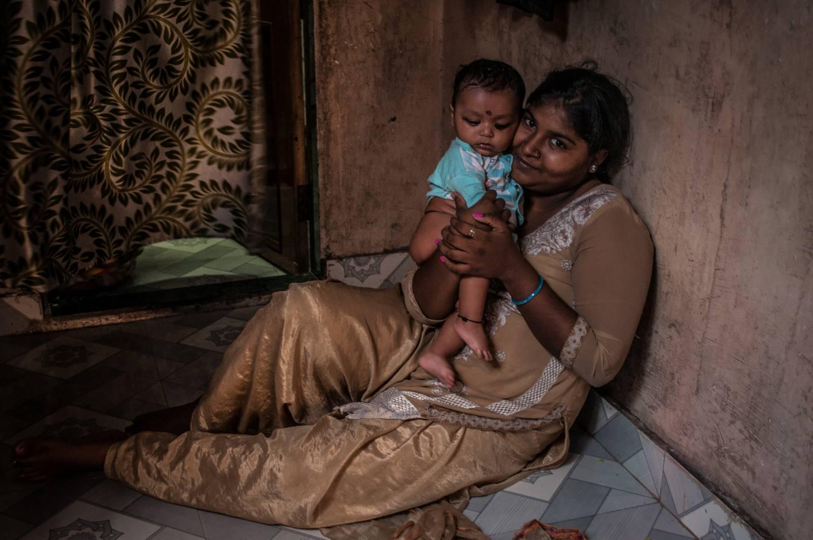 Mieszkańcy Dhobi Ghat