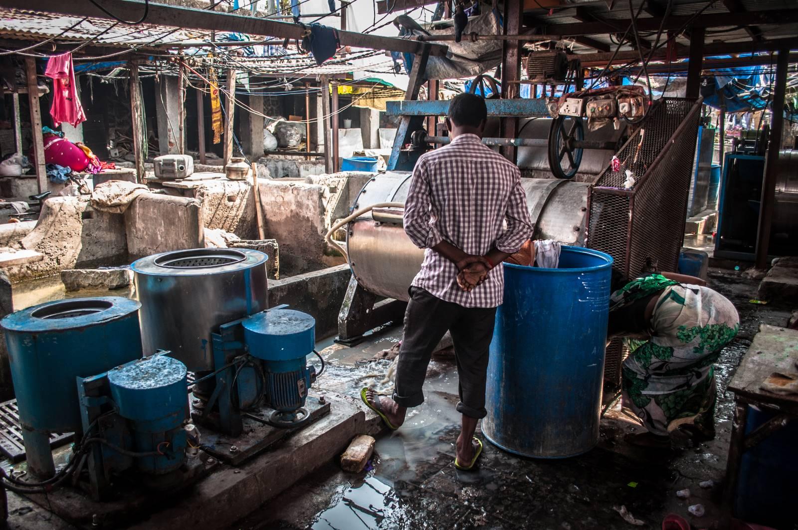 Bombaj (Indie) – Dhobi Ghat – największa pralnia świata