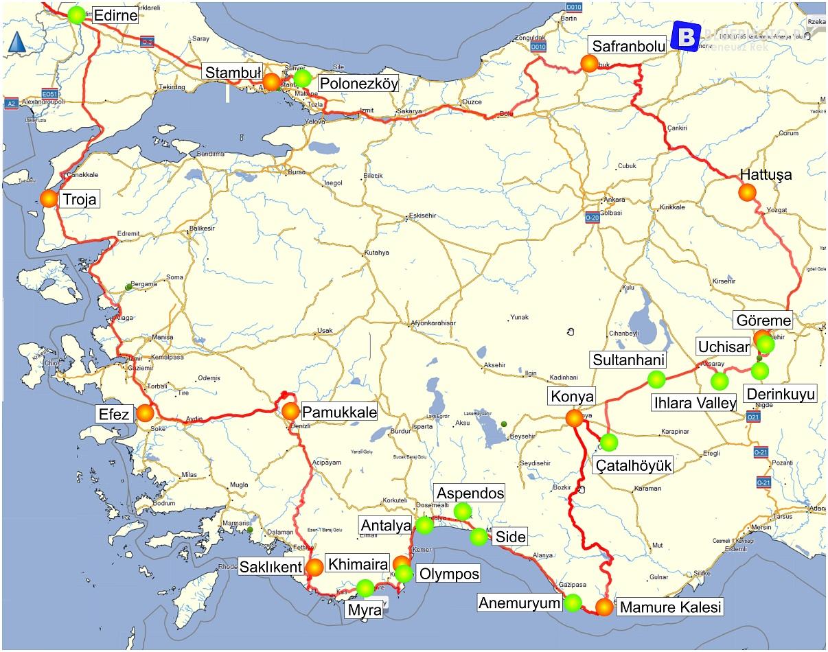 Nasza turecka trasa