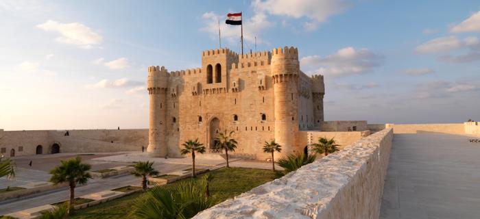 Zamek Qaitbay w Aleksandrii