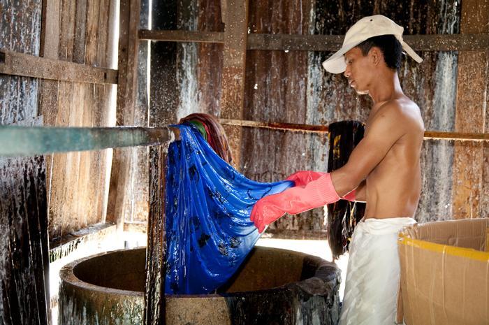 Produkcja batiku w Malezji