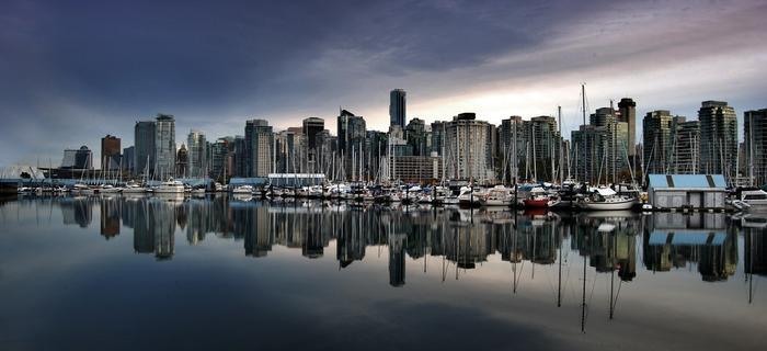 Widok na centrum Vancouver