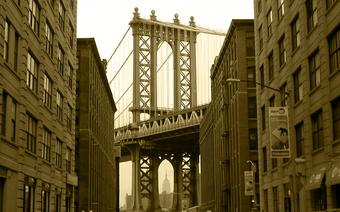 Widok na Brookliński Most