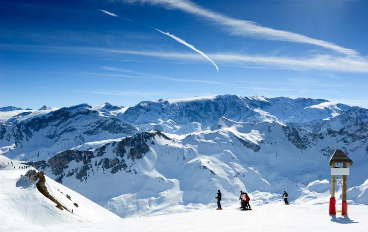 Dolina Meribel w Alpach Francuskich