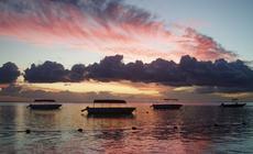 Mauritius. Zachód słońca nad oceanem