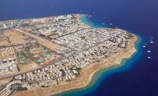 Hotele i plaże w Sharm el Sheikh z lotu ptaka