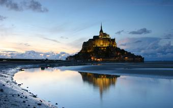 Wieczór w Mont Saint Michel
