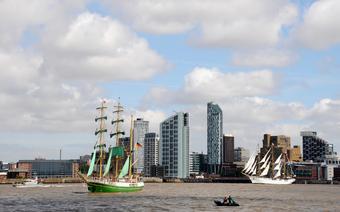 Rzeka Mersey oddziela Liverpool od miasteczka Birkenhead