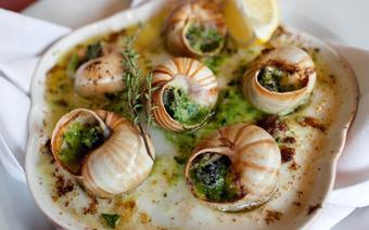 Ślimaki serwowane w restauracji Le Regal