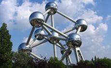 Struktura Atomu zbudowana na otwarcie wystawy w 1958r.
