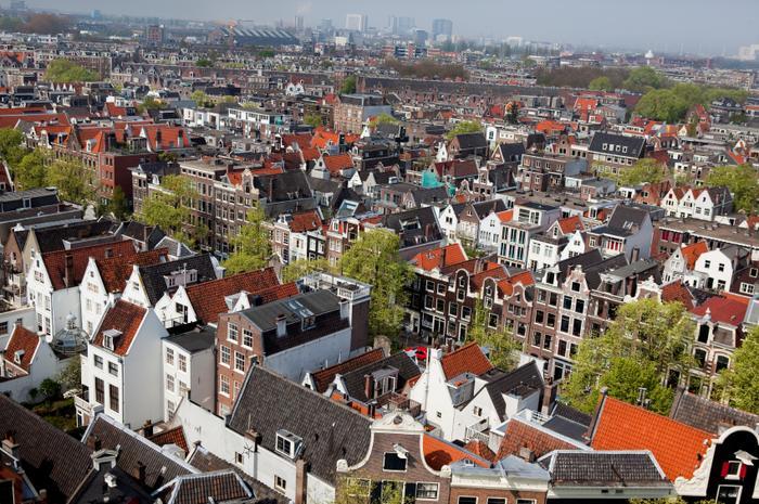 Widok na Amsterdam
