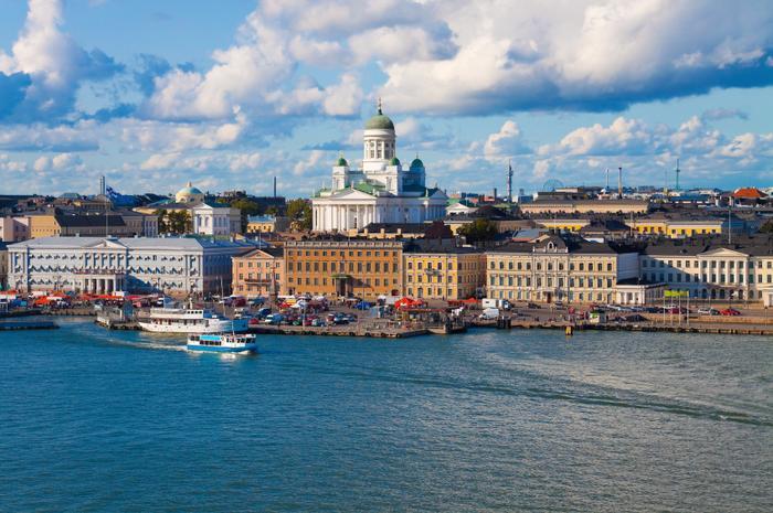 Widok na Helsinki od strony morza