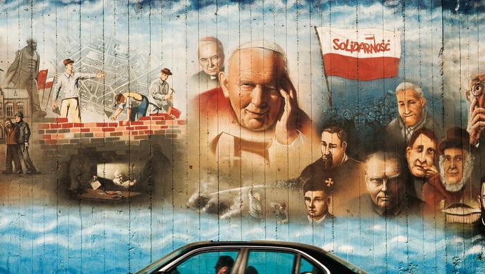 1000-letnia historia Krakowa na graffiti Siolva Rerum przy Al. Powstańców Śląskich