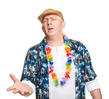 Brytyjski turysta - pijany, awanturujący się, ale nie ordynarny