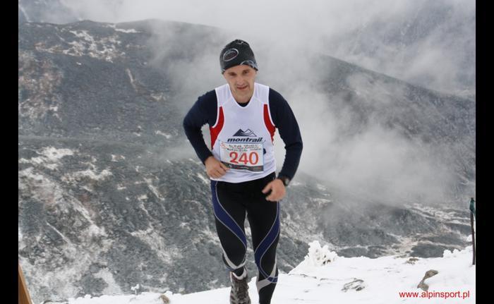 Dominik Ząbczyńskiw trakcie biegu na Kasprowy Wierch