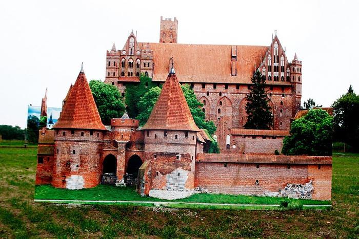 Miniatura Zamku w Malborku