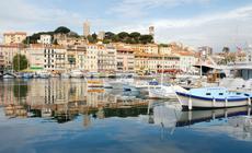 Cannes - cumujące jachty