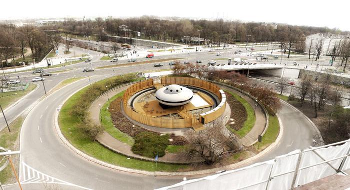 Wizualizacja Instalacji Unexpected Fountain Occupation