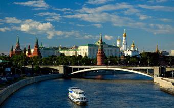 Widok na rzekę Moskwę i Kreml