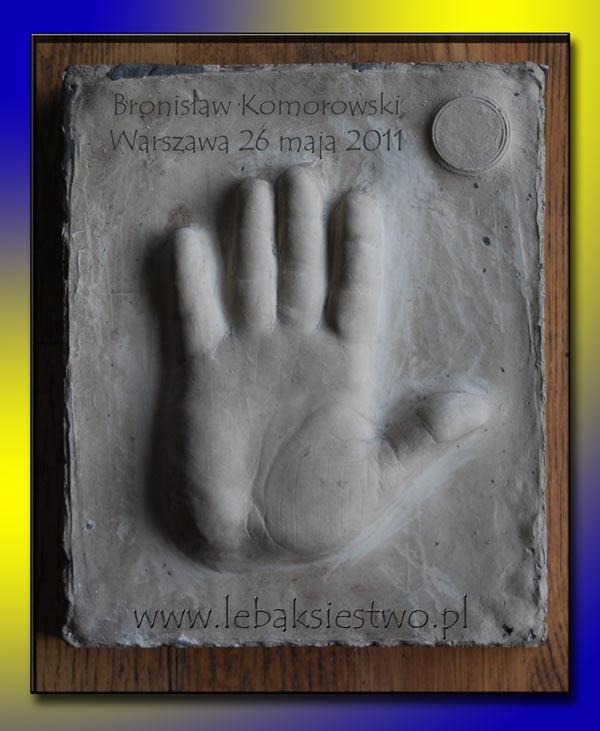 Odcisk dłoni prezydenta Bronisława Komorowskiego