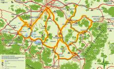 Mapa doliny Pałaców w Polsce