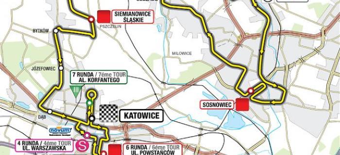 mapa przejazdu tour de pologne