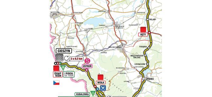mapa tour cieszyn