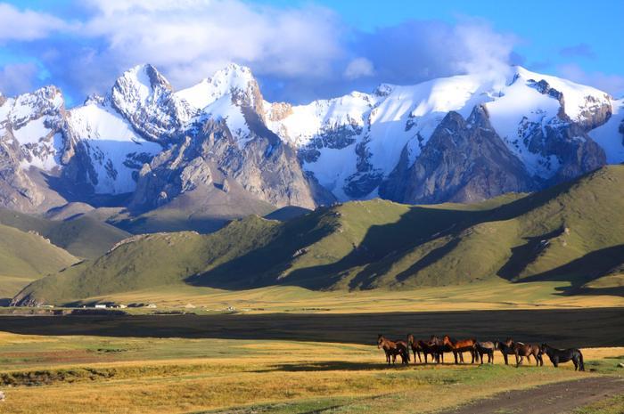 Góry Pamiru  w Kirgistanie