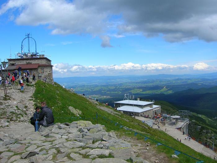 Stacja końcowa kolejki na Kaprowy Wierch