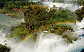 Tęcza nad Wodospadami Iguazu