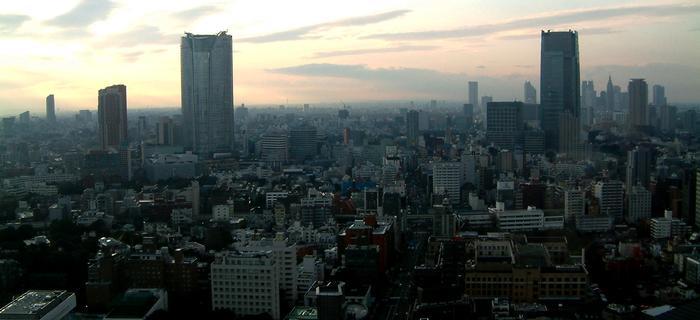 Tokio o wschodzie słońca