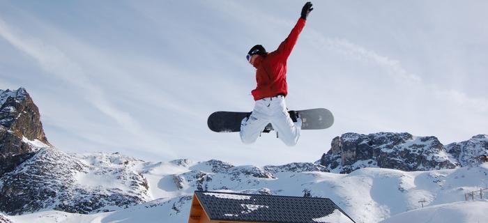 Snowpark w alpach
