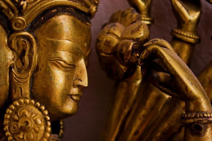 Figurka z wizerunkiem Buddy w Tybecie