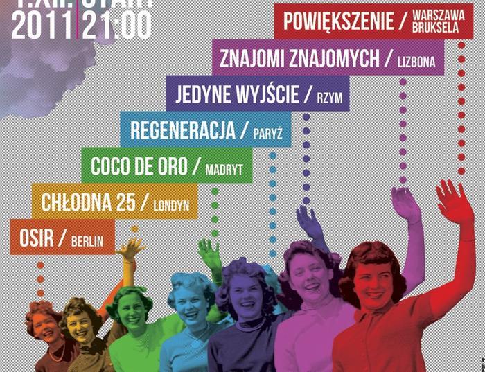 """Plakat imprezy  """"Warsaw in Between"""""""