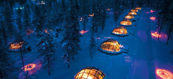 Wioska igloo w Kakslauttanen