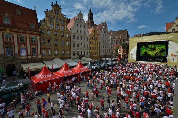 EURO 2012. Strefa Kibica we Wrocławiu