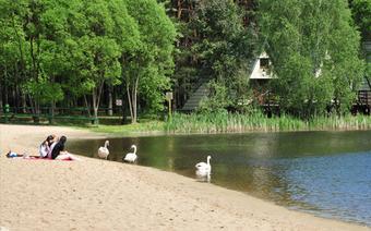 Plaża w ośrodku Wawrzkowizna