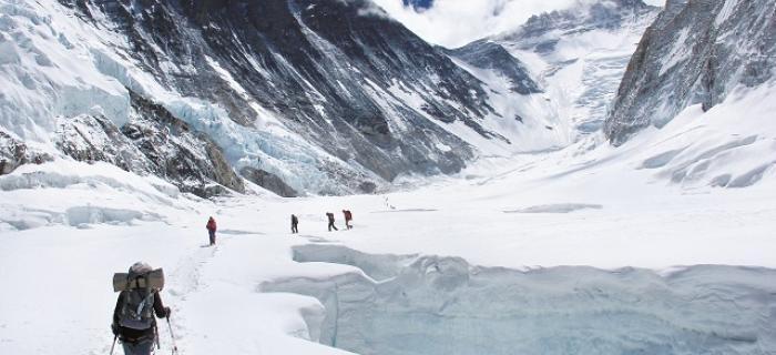 Monika Witkowska w drodze na Mt. Everest