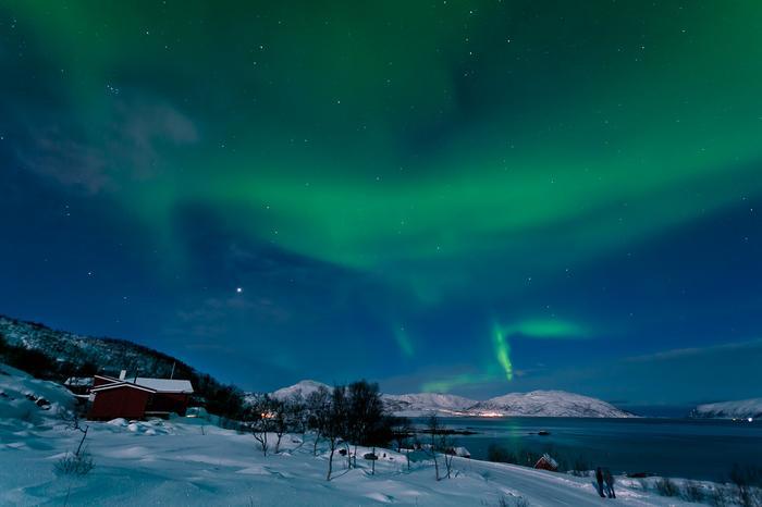 Zorza polarna Norwegia