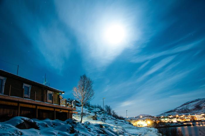 Skandynawia Norwegia. Zorza polarna w Tromso