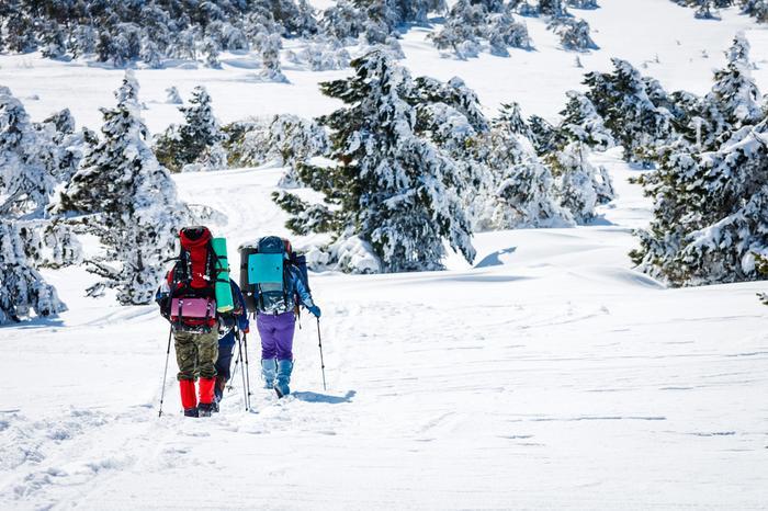 Zimowy trekking w górach
